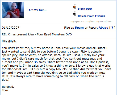 MySpace Comment