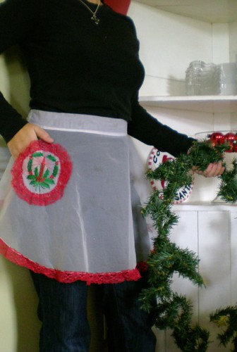fancy pants christmas apron