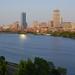 Boston skyline in the evening sun