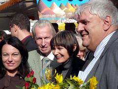 Géraldine Savary, Micheline Calmy-Rey, Daniel Brélaz à la Palud