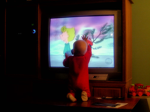 He likes cartoons