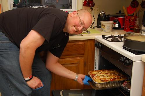 Kurt's lasagna is done!!