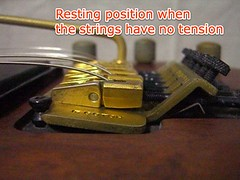 Changing string guage & adjusting a floating guitar bridge