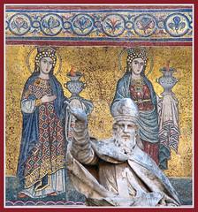 Virgin saints carrying lamps