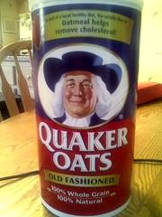 Quaker Oatmeal box