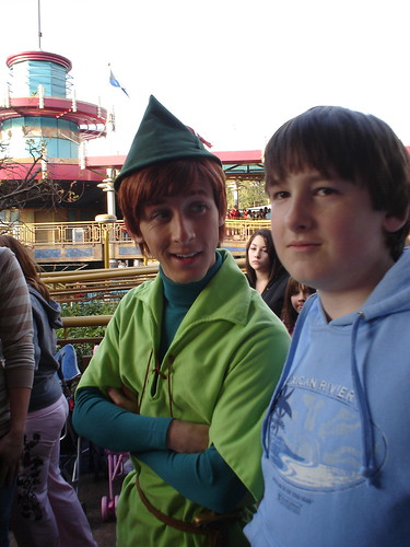 Peter Pan found another lost boy