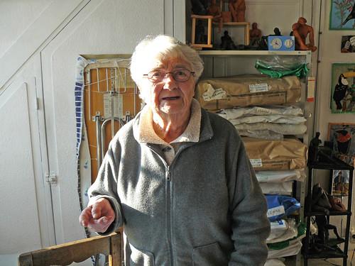 Georgette Meyer dans son atelier