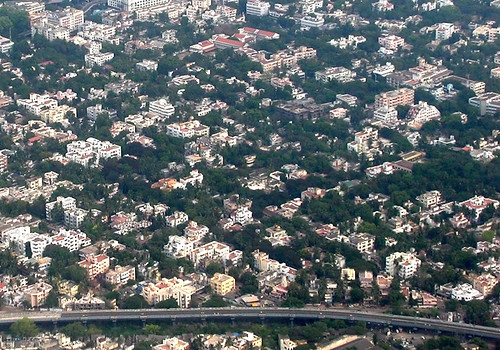 aerial view of chennai