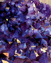 Blue Purple Red:  Amethyst Crystals