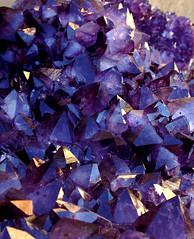 Blue Purple Red: Amethyst Crystals
