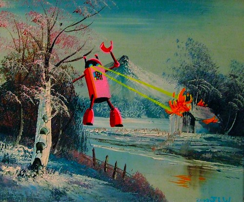 Red Caped Robot Attacks