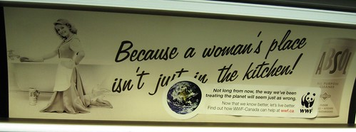 WWF Ad in the Toronto Subway