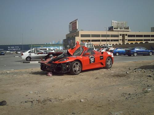 Ferrari F430 Crash by wreckedexotics.