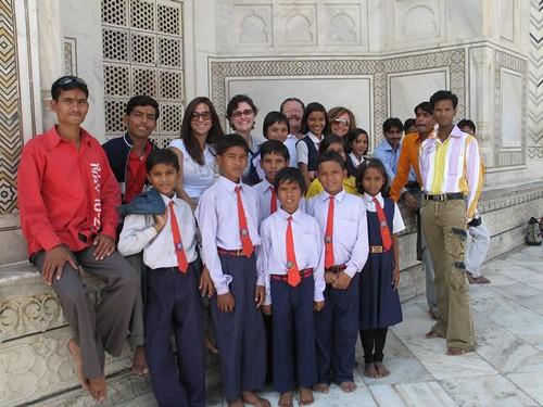 Nens en una excursió de l'escola
