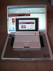 Laptop and miniBook together