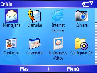 Menu inicio Windows Mobile 5 HTC Excalibur S620 Scroll 1 de 4