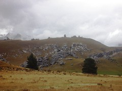 Rocky outcrops at Castle Hill