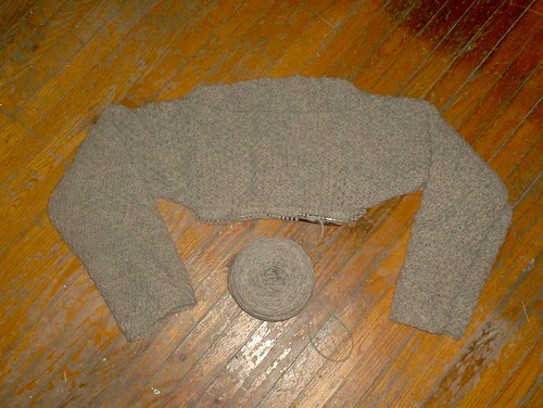 Zen Pullover, body begun