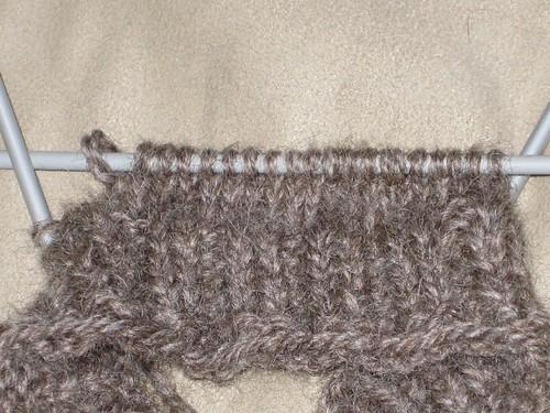 Ribbing to stocking stitch