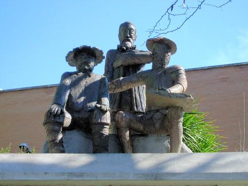 Quijote, Sancho y Cervantes