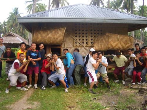 bayanihan Pinoy,Filipino,Pilipino,Buhay,Life,people,pictures,photos,rural traditional, rural, scene, Philippines, man, men house lifting moving