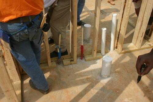 Plumbing wall installed