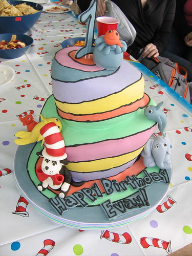 Evan's 1st Birthday Cake2