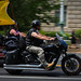 Motorcycle riders drive through the National Mall in Washington for the annual Rolling Thunder Memorial Day weekend observance