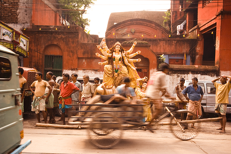 Durga Ma ...Rushing away ...