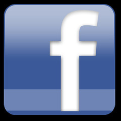 Facebook logo small f blue