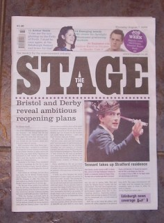 THE STAGE - 07/08/08 Cover