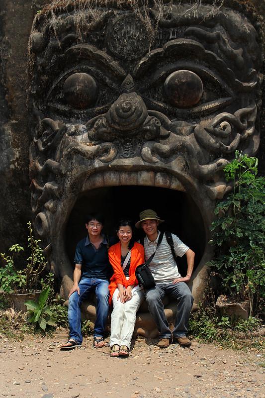 Travel buddies, Buddha Park, Vientiane