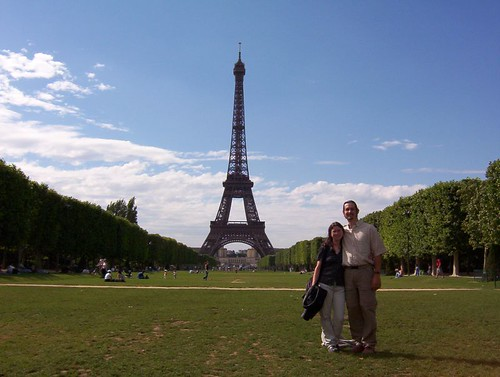 On the Champs de Mars, with la Tour Eiffel in the background