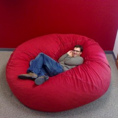 Love Sac Chair Square Cushions Outdoor Eames Or Matt Goyer Lounge Chairs Walnut Budget Allowing But Our Office Recently Got A Ton Of S And They Re Great Here Rob Chilling In Very Large One