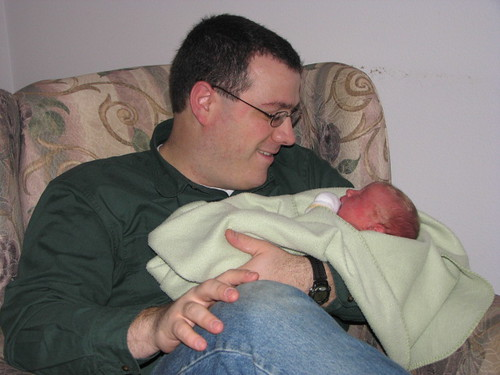Daddy and James at Birth Center