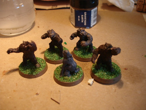 Miniature uomini lupo