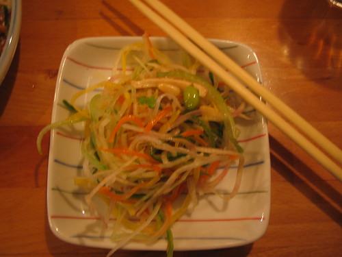 senroppon salad at cha-ya