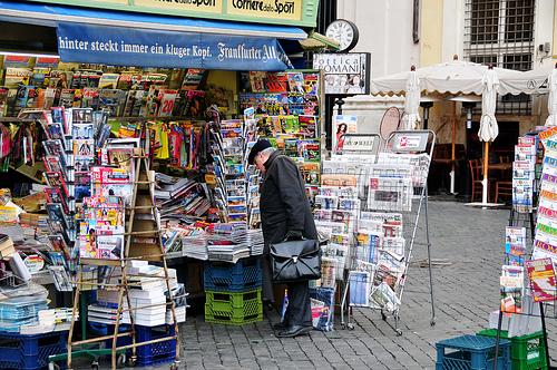 Newspaper and magazine stand Rome