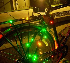 Bicycle Christmas lights -- drivetrain