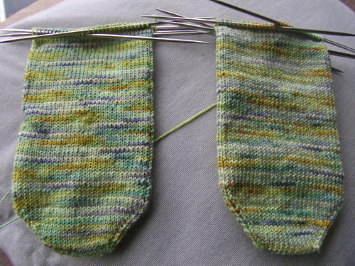 greenish socks