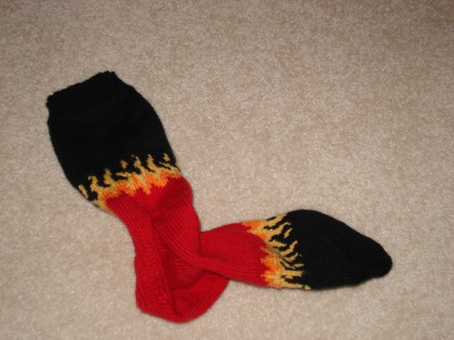 Finished Flame Sock #2