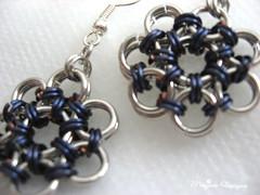 star earrings blue in