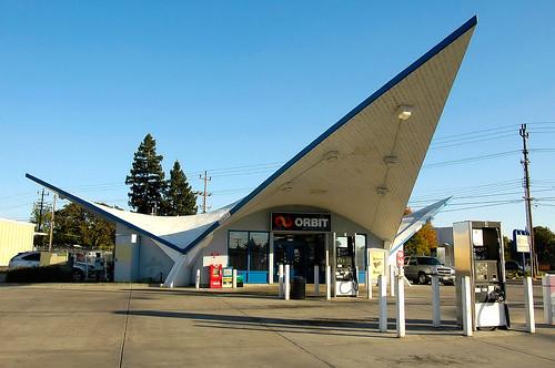 Modernist Petrol Station