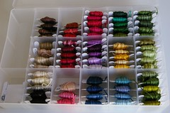 Embroidery floss - All nice and straightened out!