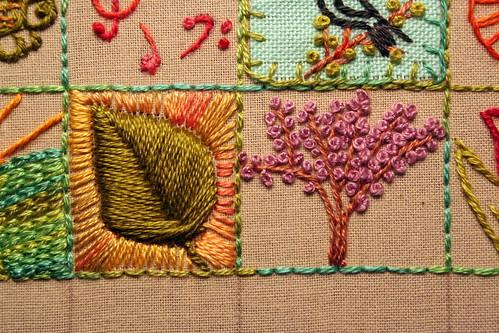 39 Squares: Leaf and Redbud