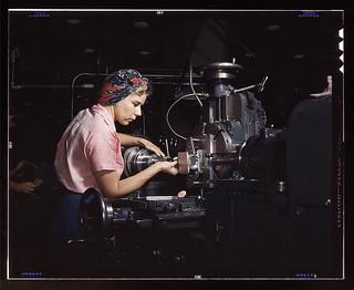 Woman machinist, Douglas Aircraft Company, Lon...