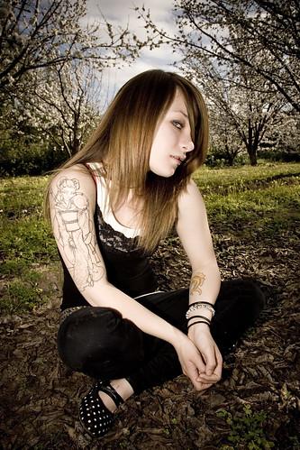 guitar tattoo, calf tattoo, swallows tattoo, cobwebs tattoo,