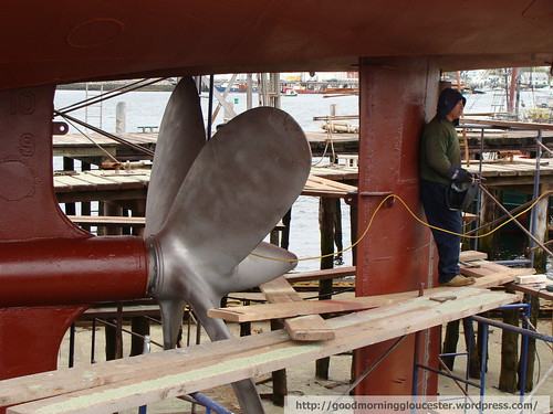 Tugboat Captain Bill's Propeller – Good Morning Gloucester
