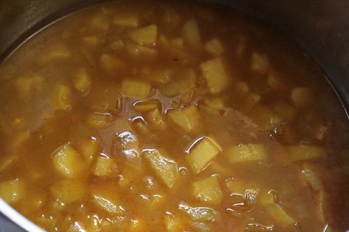Soup ready to puree