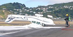 Cessna flipped at Wellington Airport